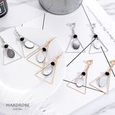 個性幾何型貝殼裝飾耳針耳夾耳環/ 衣櫃控-WardrobE / YI057