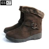 ESKT 女短筒雪鞋SN239 / 城市綠洲 (雪靴、防潑水、刷毛、冰爪)
