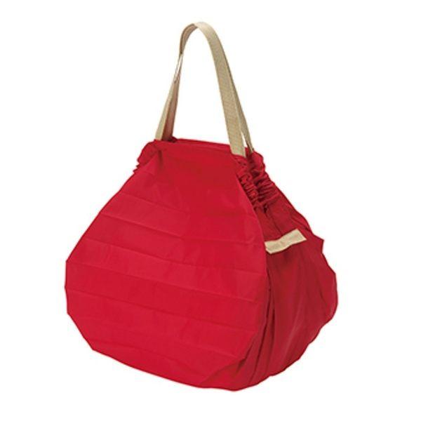 【Shupatto】 輕巧秒收環保袋(M/紅) 折疊 大容量 環保袋 購物袋 萬用包 旅行收納 日本MARNA