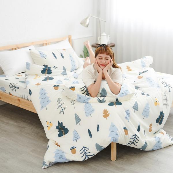 #U117#舒柔超細纖維6x6.2尺雙人加大床包+枕套三件組-台灣製(不含被套)