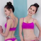 居家服內睡衣  運動式無鋼圈   輕量細肩運動內衣S-XL(紫)《Life Beauty》