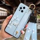 毆珀Find X3 Pro保護殼 簡約腕帶支架oppo保護套 OPPO Find X3 PRO手機套 個性創意find x3pro手機殼