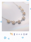 Silver 純銀 玫瑰花套鍊 單項鍊 [ sc 005 ]