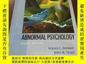 二手書博民逛書店Abnormal罕見psychology (eighth edi