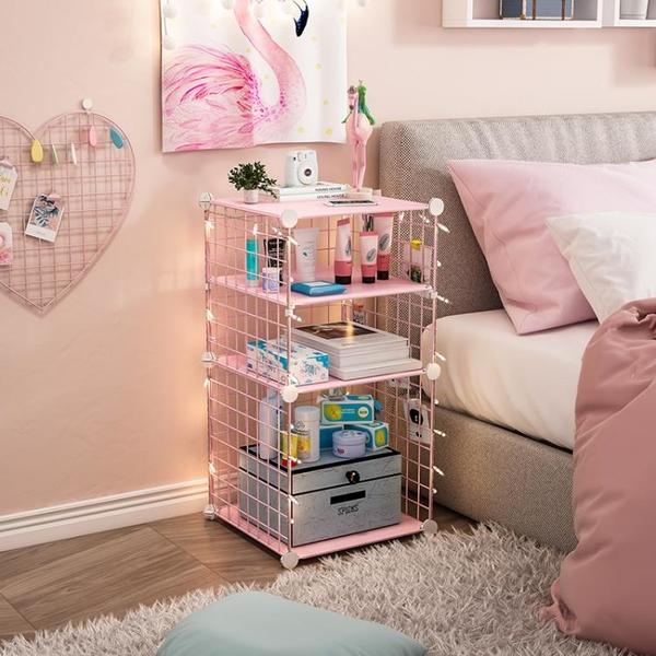 簡易小型床頭櫃可愛北歐臥室床邊多功能收納儲物輕奢迷你床頭櫃子 【618特惠】
