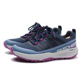 SKECHERS 休閒鞋 GO TRAIL JACKRABBIT 越野鞋 藍 紫 灰 女 (布魯克林) 128067NVLV