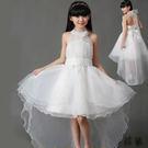 兒童鋼琴演出服 白雪公主裙 晚禮服 拖尾蓬蓬花童婚紗中大童主持【莎芭】