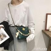 ins韓版小包包女時尚鱷魚紋水桶包高級感洋氣斜背鍊條包最低價  小確幸生活館