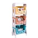 兒童收納三層推車【JL精品工坊】收納櫃 置物櫃 收納箱 置物架 收納架