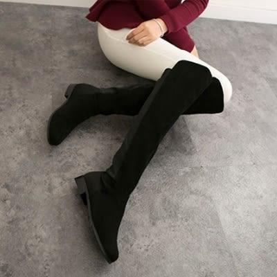 真皮過膝靴-時尚經典百搭率性粗跟女長靴2款73iv12[時尚巴黎]