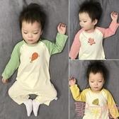嬰兒秋裝長袖薄款可愛寶寶韓版爬服純棉嬰兒連身衣服【聚可愛】