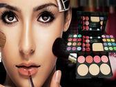 ADS 艾迪絲彩妝盒化妝盒 24色眼影+8色唇彩4色腮紅+3塊粉餅 美容丙級 【22338】