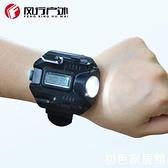戴在手上的手電筒手錶腕上自帶有燈修車用爬山照明裝備釣魚燈具亮 初色家居館