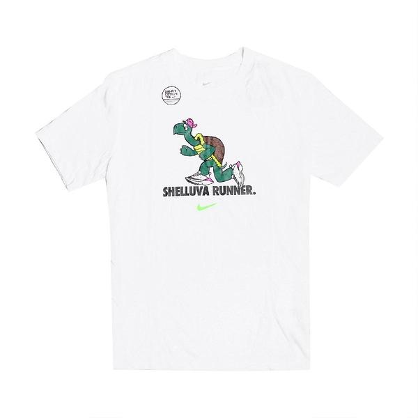 Nike 短袖T恤 Dri-FIT Tortoise Running T-Shirts 白 彩 男款 短T 烏龜 運動休閒 【ACS】 CZ9830-100