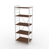 (組)特力屋萊特五層架白框/深木紋-60x40x158cm