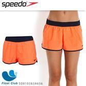 【SPEEDO】女人休閒海灘褲10吋 Colour Mix (橘/藍)  SD810383A656