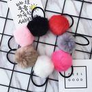 人造兔毛 毛毛球皮筋髮圈髮飾【B5078】