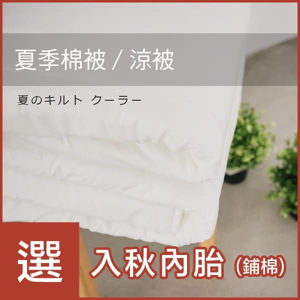 雙人-夏季棉被 [夏季薄被胎] 用於薄被套內可當涼被使用 ; 可水洗 ; 翔仔居家台灣製