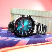 ALBA / Y676-X035SD.AL4175X1 / 炫光潮流 東京設計 機械錶 星期日期 防水100米 不鏽鋼手錶 霓虹色x鍍黑 42mm