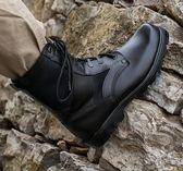 軍靴軍靴男07作戰靴超輕減震特種兵17軍鞋冬季高幫18陸戰術靴式作戰靴99免運 二度