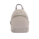 【MICHAEL KORS】素面皮革拼鉚釘後背包(迷你)(珍珠灰)35T7SAYB1L PEARL