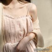 女夏季顯瘦腰帶連身裙吊帶韓版裙