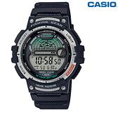 CASIO卡西歐 10年電力 數位顯示 大錶面 兩地時間 月相資料 男錶 中性錶 防水 WS-1200H-1A
