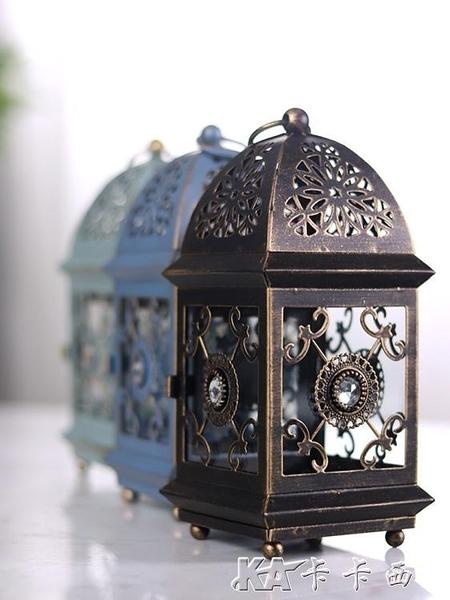 蠟燭台復古鐵藝家用裝飾燭台擺件北歐浪漫燭光晚餐道具 【全館免運】