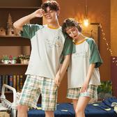 情侶人氣睡衣女夏季短袖薄款圓領可愛夏天男士休閑韓版家居服套裝