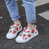 兒童帆布鞋2019春新款女童小白鞋寶寶鞋男童百搭板鞋小學生休閑鞋