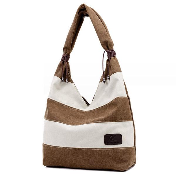 換換包!Changebag!吉普賽風條紋手提帆布包