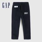 Gap男幼童 LOGO修身款搖粒絨針織長褲 593028-海軍藍