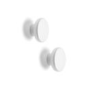 丹麥 Menu Knobs Hanger 2-Pack 旋鈕系列 壁掛掛勾 兩件組(白色金屬)