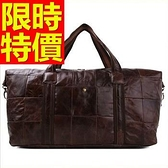 真皮旅行袋-商務可肩背大容量設計男手提包1色59c16[巴黎精品]