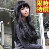 長假髮-齊瀏海長捲髮時尚逼真女美髮用品3色69o25[巴黎精品]