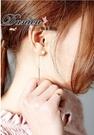 耳環 現貨 韓國 時尚 氣質 甜美 百搭 金屬感 珍珠 後掛耳環 S91971 批發價 Danica 韓系飾品 韓國連線