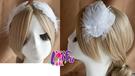 得來福*k477天使造型羽毛新娘髮飾髮夾結婚頭飾,1個售價120元