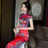 老上海祺旗袍中國風優雅走秀旗袍連身裙
