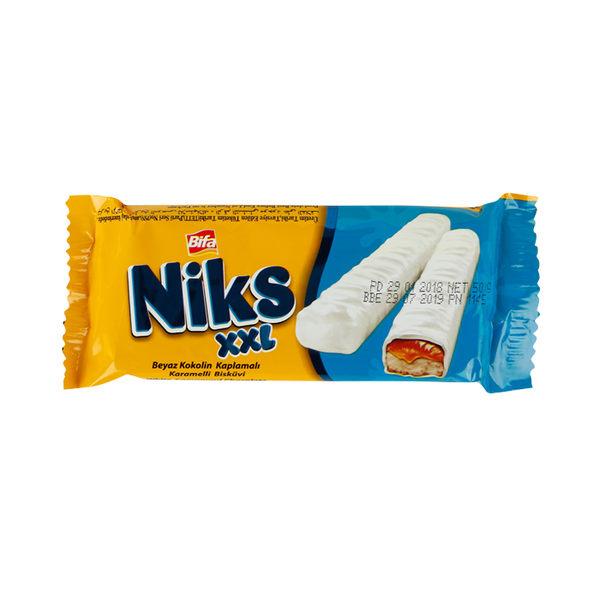 Bifa Niks 白巧克力焦糖味餅乾 50g ◆86小舖 ◆