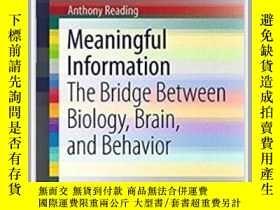 二手書博民逛書店Meaningful罕見Information-有意義的信息Y436638 Anthony Reading S