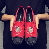 帆布鞋 韓版潮流一腳蹬懶人鞋 男休閒鞋子《印象精品》q412