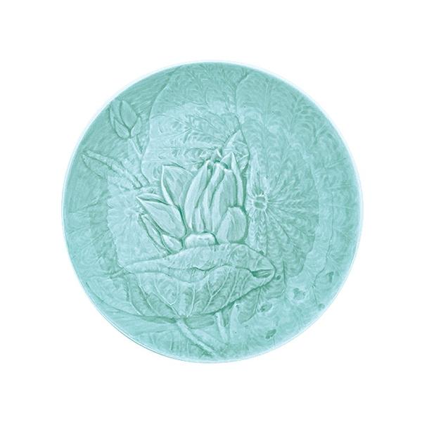 安達窯 青瓷 雕花圓盤-9吋