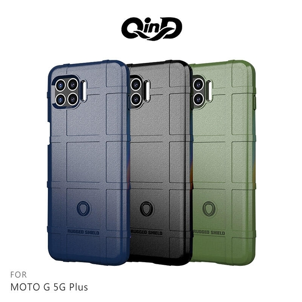 【愛瘋潮】QinD MOTO G 5G Plus 戰術護盾保護套 背蓋式 手機殼 鏡頭加高 軟殼 保護殼 保護套