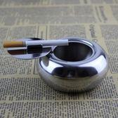 可密封個性煙盅   創意加厚鼓形煙灰缸帶蓋不銹鋼時尚煙灰缸其 薔薇時尚