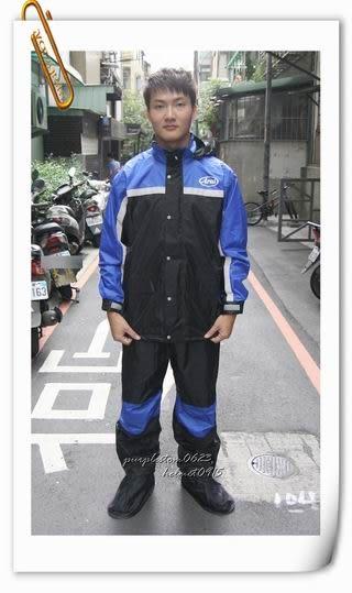 林森●ARAI多功能套裝雨衣,兩件式,K8,含簡易式鞋套,黑藍