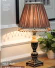110V-220V 歐式臥室書房復古新古典玉石檯燈樣板房美式床頭燈--不送光源