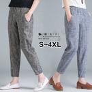【QV3365】魔衣子-豎條紋寬鬆顯瘦休...