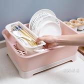 瀝水架帶蓋碗碟架放碗架收納盒瀝水架家用裝碗筷收納箱廚房碗櫃置物架xw
