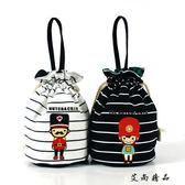 韓版迷你束口袋可愛抽繩化妝包