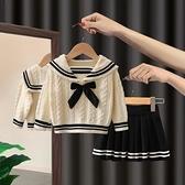 女寶寶套裝2021新款小童童裝春秋季兒童洋氣網紅兩件套潮女童秋裝 幸福第一站